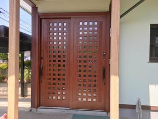 S様邸 玄関ドア引戸工事