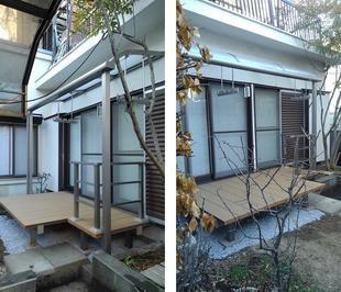 ウッドデッキ&テラス屋根で、お庭のイメージが一新!