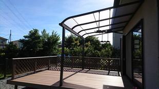 厚木 ウッドデッキ・テラス 悩んでいた広いお庭を、家族の憩いの空間に大変身!