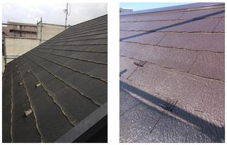 屋根は通常塗装しました