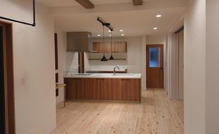 独立した玄関も新設の二世帯住宅へ、1Floorリノベーション