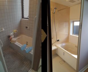 ヒートショックを解消したい 春日市 C様邸 洗面室・浴室