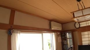 和室天井貼替工事