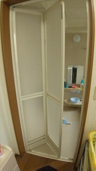 浴室折戸部品交換