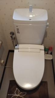 明るい空間のトイレ