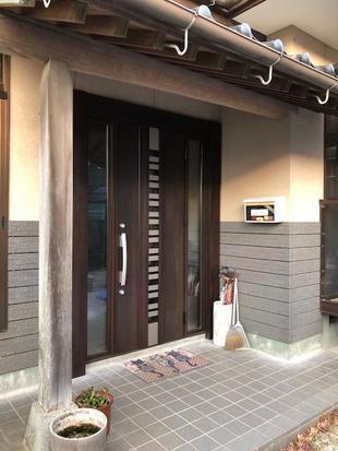築上郡 デザイン・機能アップの玄関ドアリフォーム