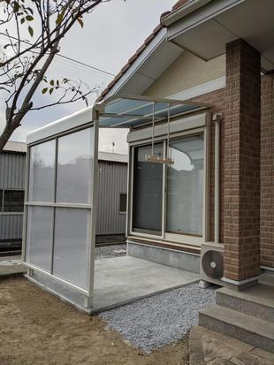 豊後高田市 テラス設置 新たなユーティリティスペース