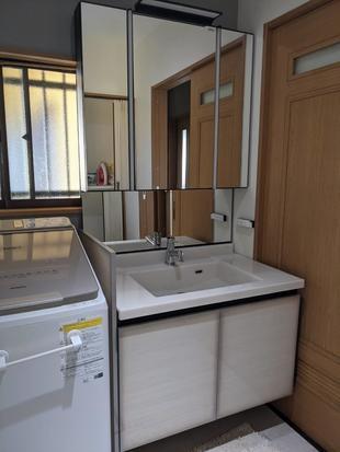 宇佐市 洗面室リフォーム 優雅な洗面空間