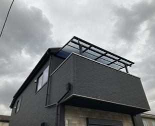 LIXILスピーネFタイプ 「テラス屋根」取り付け工事 さいたま市T様邸