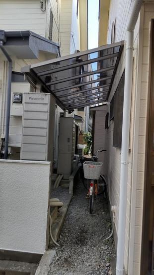 さいたま市 K様邸 「駐輪場屋根」取り付け工事