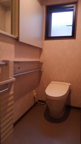 タンクレスのトイレに替えて広々♪