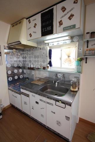 とても古かったキッチンがビンテージ風に・・・