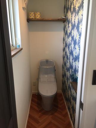 トイレだって個性的に・・・CFテイストに・・・