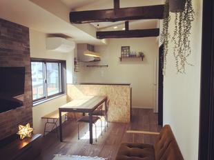 2世帯用に納屋をカフェスタイルにリノベーション