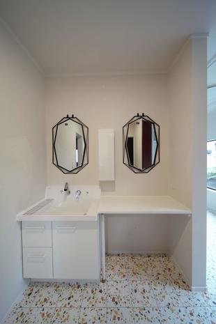 くつろぎの洗面スペースができました