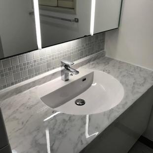洗面リフォーム:LIXIL暮らしに気品を与えるホテルライクな洗面化粧台ルミシスの交換工事