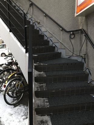 札幌市 M歯科 融雪マット工事