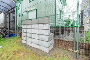 『壁あて用のブロック塀』