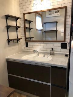 長年愛用していた洗面台をエレガントな空間に!!『前橋市』