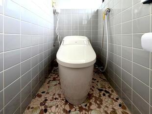 節水型トイレでお掃除も楽になりました(北杜市)
