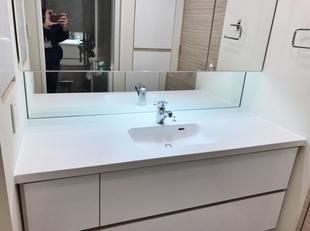 洗面カウンターの改修工事