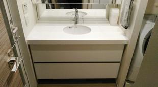 洗面カウンター改修工事