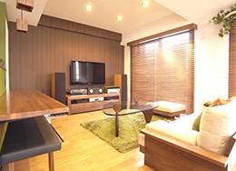 東松山市 4つの部屋を広い1つの空間にし、好きなインテリアでゆとりある暮らしを送れる空間になりました。