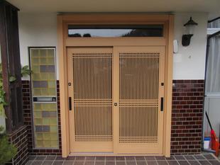 戸建て 玄関引戸(リシェント)・勝手口ドア交換工事