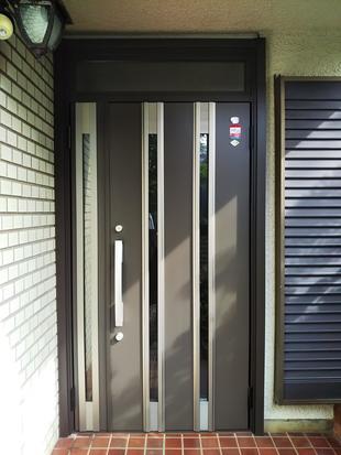小山市S様邸 玄関ドア1dayリフォーム