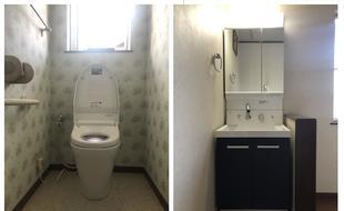 トイレ・洗面一気に1DAYリフォーム
