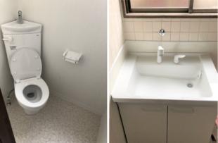 和式から洋式トイレへ+洗面リフォーム