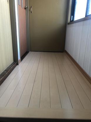 2階廊下床修繕工事