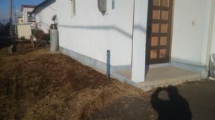 外部散水栓取り付け工事