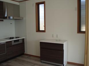 キッチンとリビングを一緒の空間にリノベーション