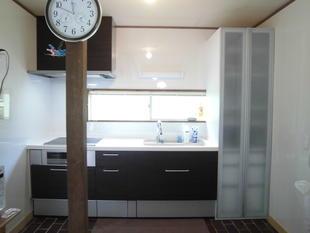 別荘のキッチン取替え