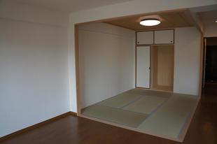 *和室*改装工事 壁の撤去、畳の貼替