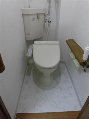 After トイレ床CF貼替しました