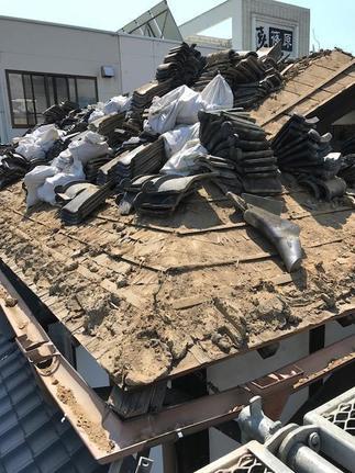 施工中 既存屋根撤去