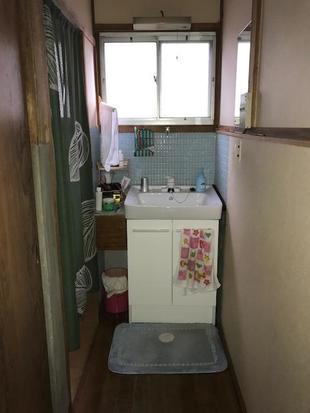 洗面台入れ替え工事