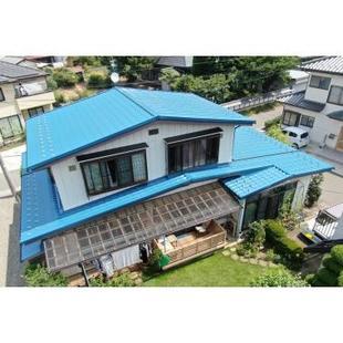 長野県千曲市で板金屋根の屋根塗装リフォーム