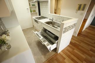 動線がよくなったオープンキッチン