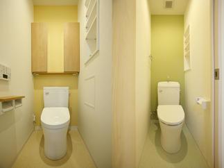 調査と検証を重ねて実現した2つのトイレ