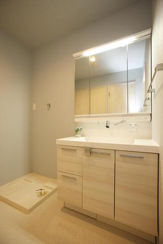 広々スペース&収納の洗面脱衣室