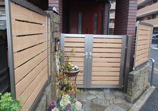 門扉とフェンスの改修