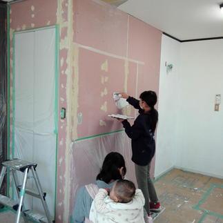 壁は漆喰 Y様施工