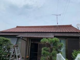 御嵩町A様邸 玄関の庇の塗装工事