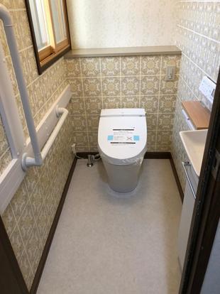 トイレリフォーム/断熱・お手入れ・自動水栓、希望を叶えた空間へ