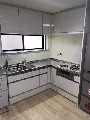 キッチンリフォーム/L型キッチンでスペースの有効活用