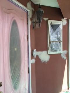 外壁(塗り壁)震災で出来た、ひび割れの補修&塗り替え工事