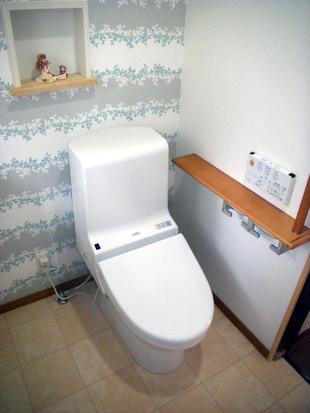 小便器を撤去し広い洋式トイレに
